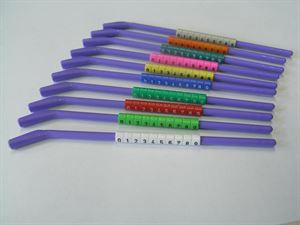 Vogelringe mit Anlegehilfe in Farbe, nummeriert